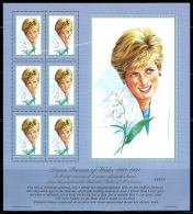 "Micronesia     ""Princess Diana""     Set & Sheet Of 6     SC# 273   MNH - Micronesia"