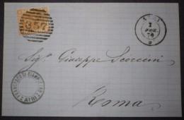 ANNULLI NUMERALI ABRUZZO: NUMERALE ATRI Teramo - 1861-78 Vittorio Emanuele II