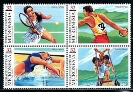 """Micronesia    """"Federation Games""""    Block Of 4    SC# 267   MNH** - Stamps"""