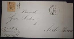ANNULLI NUMERALI ABRUZZO: NUMERALE LORETO Teramo - 1861-78 Vittorio Emanuele II