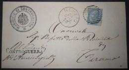 ANNULLI NUMERALI ABRUZZO: NUMERALE NERETO Teramo Da Controguerra - 1861-78 Vittorio Emanuele II