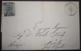 ANNULLI NUMERALI ABRUZZO: NUMERALE PENNE Teramo - 1861-78 Vittorio Emanuele II