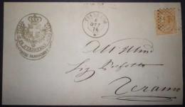 ANNULLI NUMERALI ABRUZZO: NUMERALE PIANELLA Teramo Da Rosciano - 1861-78 Vittorio Emanuele II
