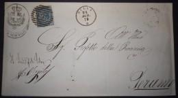ANNULLI NUMERALI ABRUZZO: NUMERALE SILVI Teramo - 1861-78 Vittorio Emanuele II