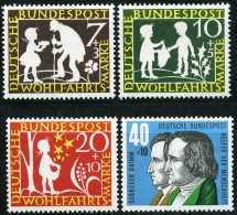 BRD - Mi 322 / 325 - ** Postfrisch (B) - Die Sterntaler, Wohlfahrt 59 - Nuevos