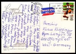 USA Lehigh Valley 1984 Olympic Games Los Angeles 1984 Athletics Long Jump, Longwood Gardens / Machine Stamp - Summer 1984: Los Angeles