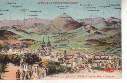63CLE01A CPA 63 - PANORAMA DE CLERMONT FERRAND ET DES MONTS D AUVERGNE - Clermont Ferrand