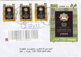 Iraq Registr.com.cover 2009, Jerusalem Cul.Capital 3 Stamps Compl.set + S.sheet-verso Date- Fine Condit - Iraq