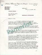 Commission D'enquète ,Lettre Au Juge Salvas Par Un Avocat Suite à Une Affirmation Contre Lui Par M. Daniel Johnson - Documents Historiques