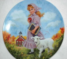 Mary Had A Little Lamb - RECO Collectible PLATE By John McClelland GIRL P68 - Céramiques