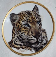 Chinese LEOPARD COLLECTIBLE PLATE, Wild Animals LENOX, P87 - Ceramics & Pottery