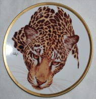 JAGUAR, WILD CAT, Collectible PLATE Lenox, T11 - Ceramics & Pottery