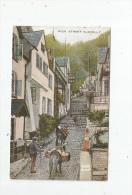 G-I-E , Cp, Angleterre , CLOVELLY  , ANIMAUX , ÂNE , High Street , Ed : Valentine's Valesque Series , Voyagée 1928 - Clovelly