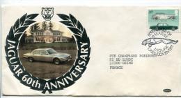 Enveloppe  JAGUAR  60 Th Anniversaire  1983 - Voitures