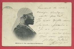 Ethopie - Menelik II , Roi Des Rois D'Abyssine - 1904  ( Voir Verso ) - Ethiopie