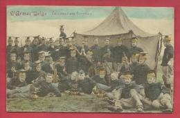 Armée Belge - Lanciers Au Bivouac -Jolie Carte Colorisée ( Voir Verso ) - Régiments