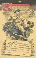 Avis De Naissance D´un Bleu Incorporé Au... - Illustration Militaire Dans Un Chou - Edition E.A. Paris - Humour
