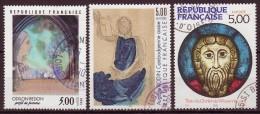 FRANCE - 1990 - YT  N° 2635 / 2637  -oblitérés - Série Artistique - France