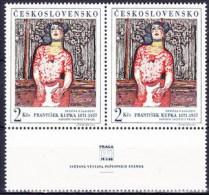 ** Tchécoslovaquie 1968 Mi 1796 (Yv 1645) Le Paire Avec Vignette, (MNH) - Unused Stamps