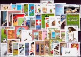 AUSTRIA ÖSTERREICH JAHRGANG  2008 Komplett  MNH / ** / POSTFRISCH - Österreich