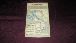 CARTE D´ALGER AU CAP , UN TRANSAFRICAIN FRANCAIS / LE DOMAINE DE L'ISLAM - 1913 - PLASTIFIEES. - Old Paper
