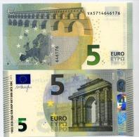 5 EURO DRAGHI VA SPAGNA  V004.. SIGNED DRAGHI UNC FDS - 5 Euro
