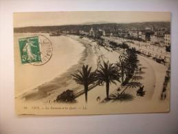 Carte Postale Nice Les Terrasses Et Les Quais (oblitérée 1912 Timbre 5 Centimes) - Nice