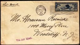 USA Cleveland 1927 Plain Lindbergh Air Mail New York - Paris - Aviones