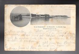 ILE De NOIRMOUTIER...le Débarcadère..la Nouvelle Plage..indigènes Les Plus En Vue..animée..1901.. - Ile De Noirmoutier