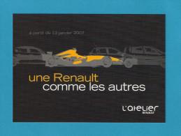 CPM    Automobile.  Une Renault Comme Les Autres.  L'Atelier Renault.   Postcard. - Pubblicitari