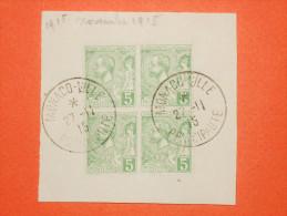 MONACO Albert 1er - N°22 Bloc De 4 - 5c Oblitération Sur Fragment.  Superbe - Monaco