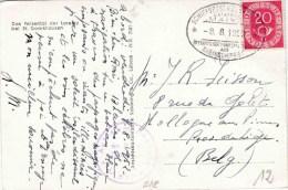 """SCHIFFSPOST :  PZ (Bund) """"SCHIFFSPOST KÖLN / Dampfer MAINZ / * 8.8.1952 * / ÖFFENTLICHER FUNKSPRECHEN AUF RHEINSCHIFFEN - Autres"""