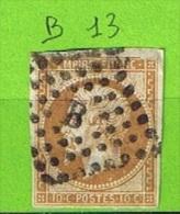 LOSANGE DE PARIS B SUR N°13 - 1849-1876: Période Classique