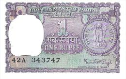 India - Pick 77v - 1 Rupee 1978 - Unc - Inde
