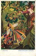 FOLKLORE POLONIA - STRYJENSKA - ZBIOR OWOCOW. BELLA CARTOLINA DEL 1941 - VIAGGIATA - Pologne