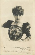 RITRATTO IN POSA ELEGANTE DI LUCIE GERARD. CARTOLINA VIAGGIATA 1901 - Cinema