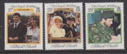 Falkland Islands 1986 Royal Wedding Of Prince Andrew 3v ** Mnh (FI1011C) - Falklandeilanden