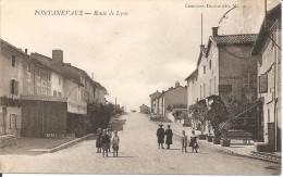 71 - PONTANEVAUX,  ROUTE DE LYON (ECRITE)