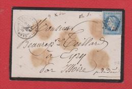Env -- De Clermont Ferrand   --    Pour  Eyry  -- 9 Dec 1868 - 1877-1920: Période Semi Moderne
