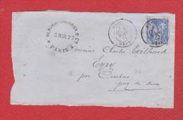 Face Avant De Paris -- Pour Eyry -- 5 Mars 1877 - Marcophilie (Lettres)