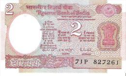 India - Pick 79j - 2 Rupees 1985-1990 - Unc - Inde