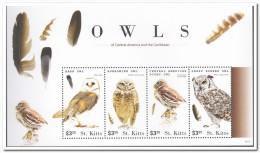 St. Kitts 2015, Postfris MNH, Owls - St.Kitts En Nevis ( 1983-...)