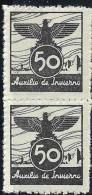 ESPAÑA GUERRA CIVIL 1936 AUXILIO DE INVIERNO.MNH ** - Vignette Della Guerra Civile