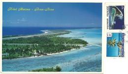 POLYNESIE FRANCAISE  BORA-BORA  Hotel Marina  Nice Stamps - Polinesia Francese