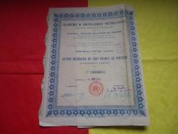 SUCRERIES ET DISTILLERIES RETHELOISES (1923) Rethel,ardennes - Actions & Titres