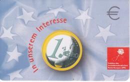 TARJETA DE ALEMANIA DE UNA MONEDA DE 1 EURO (COIN,MONEDA) ROSA-FLOR-FLOWER - Sellos & Monedas