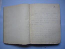 Joli Cahier Manuscrit Histoire De L'art Vers 1930/1940 Avec CPA Et Photos Illustrations - Manuscripts