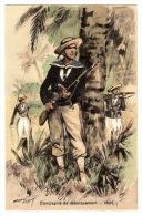 MILITARIA - Compagnie De Débarquement - Illust. M. TOUSSAINT - Ed. Militaires Illustrées - Cachet SALON DE LA MARINE - Otros