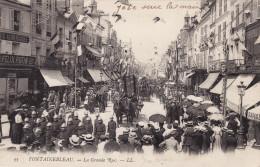 Fontainebleau - La Grande Rue - Défilé Des Pompiers - Fontainebleau