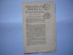 Journal De La Côte D'or Révolution An 12 De La République N°23 Par Carion Tampons - Historische Documenten